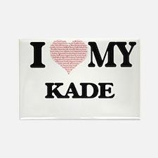 I Love my Kade (Heart Made from Love my wo Magnets