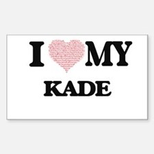 I Love my Kade (Heart Made from Love my wo Decal