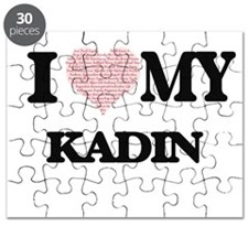 I Love my Kadin (Heart Made from Love my wo Puzzle
