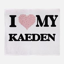 I Love my Kaeden (Heart Made from Lo Throw Blanket