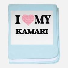 I Love my Kamari (Heart Made from Lov baby blanket