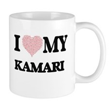 I Love my Kamari (Heart Made from Love my wor Mugs