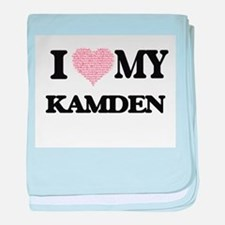 I Love my Kamden (Heart Made from Lov baby blanket