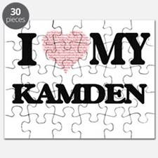 I Love my Kamden (Heart Made from Love my w Puzzle