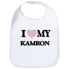 I Love my Kamron (Heart Made from Love my word Bib