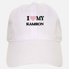 I Love my Kamron (Heart Made from Love my word Baseball Baseball Cap