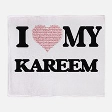 I Love my Kareem (Heart Made from Lo Throw Blanket