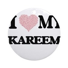 I Love my Kareem (Heart Made from L Round Ornament