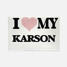 I Love my Karson (Heart Made from Love my Magnets