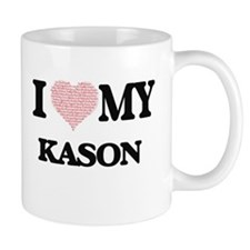 I Love my Kason (Heart Made from Love my word Mugs