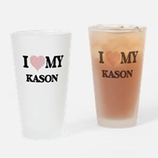 I Love my Kason (Heart Made from Lo Drinking Glass
