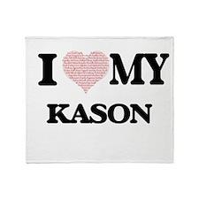 I Love my Kason (Heart Made from Lov Throw Blanket