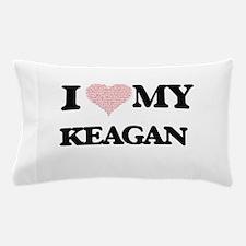 I Love my Keagan (Heart Made from Love Pillow Case