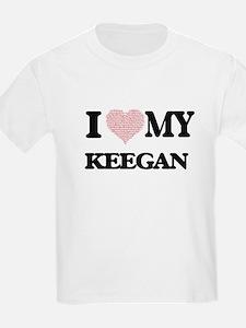 I Love my Keegan (Heart Made from Love my T-Shirt