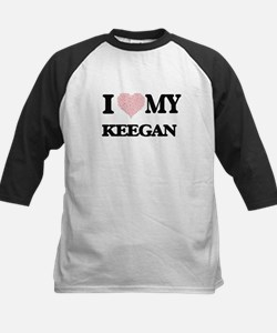 I Love my Keegan (Heart Made from Baseball Jersey