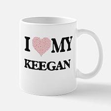I Love my Keegan (Heart Made from Love my wor Mugs