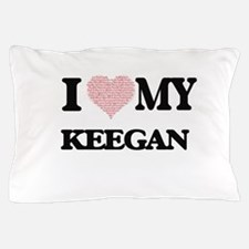 I Love my Keegan (Heart Made from Love Pillow Case