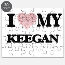 I Love my Keegan (Heart Made from Love my w Puzzle