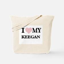 I Love my Keegan (Heart Made from Love my Tote Bag