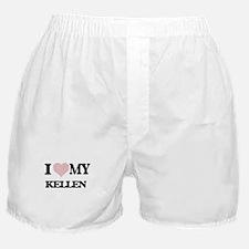 I Love my Kellen (Heart Made from Lov Boxer Shorts