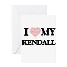 I Love my Kendall (Heart Made from Greeting Cards