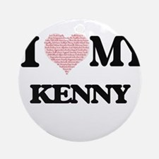 I Love my Kenny (Heart Made from Lo Round Ornament