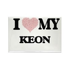 I Love my Keon (Heart Made from Love my wo Magnets