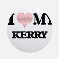 I Love my Kerry (Heart Made from Lo Round Ornament