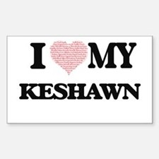 I Love my Keshawn (Heart Made from Love my Decal