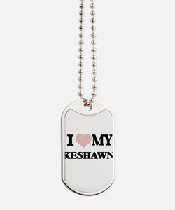 I Love my Keshawn (Heart Made from Love m Dog Tags