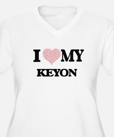 I Love my Keyon (Heart Made from Plus Size T-Shirt