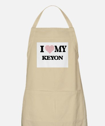 I Love my Keyon (Heart Made from Love my wor Apron