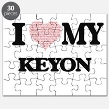 I Love my Keyon (Heart Made from Love my wo Puzzle