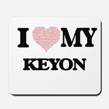 I Love my Keyon (Heart Made from Love my Mousepad