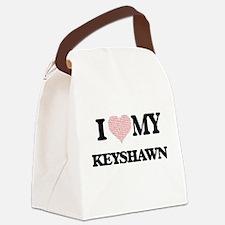 I Love my Keyshawn (Heart Made fr Canvas Lunch Bag