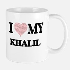 I Love my Khalil (Heart Made from Love my wor Mugs