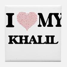 I Love my Khalil (Heart Made from Lov Tile Coaster