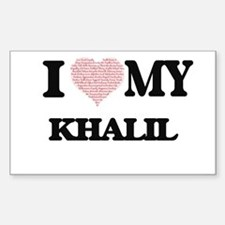 I Love my Khalil (Heart Made from Love my Decal