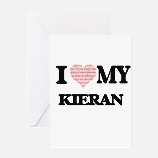 I Love my Kieran (Heart Made from L Greeting Cards