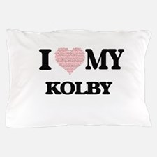 I Love my Kolby (Heart Made from Love Pillow Case