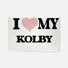 I Love my Kolby (Heart Made from Love my w Magnets