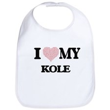 I Love my Kole (Heart Made from Love my words) Bib