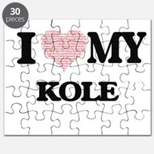 I Love my Kole (Heart Made from Love my wor Puzzle