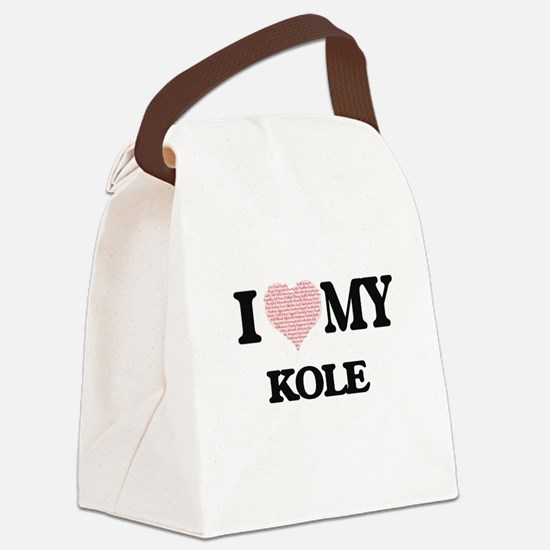 I Love my Kole (Heart Made from L Canvas Lunch Bag