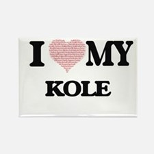 I Love my Kole (Heart Made from Love my wo Magnets