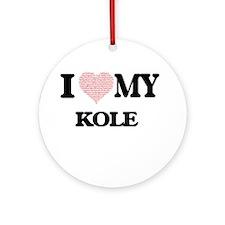 I Love my Kole (Heart Made from Lov Round Ornament