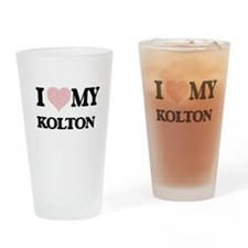 I Love my Kolton (Heart Made from L Drinking Glass