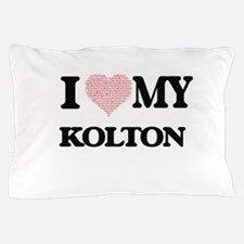 I Love my Kolton (Heart Made from Love Pillow Case
