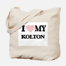 I Love my Kolton (Heart Made from Love my Tote Bag