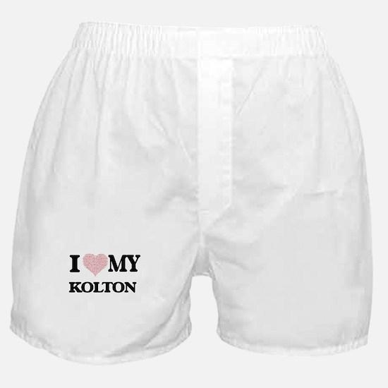 I Love my Kolton (Heart Made from Lov Boxer Shorts